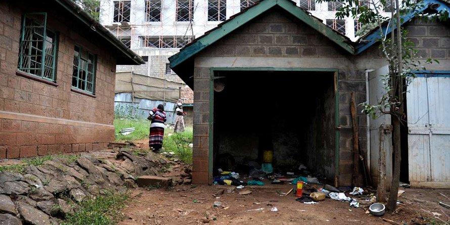 Kenya Railways' houses in Upper Hill's Matumbato Road, Nairobi,