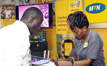 An MTN Mobile Money agent in Kampala. NMG