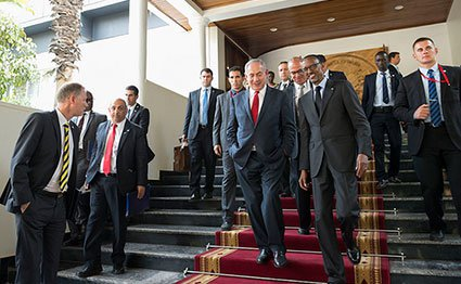President Paul Kagame and Israeli Prime Minister Benjamin Netanyahu