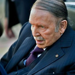 Algerian President Abdelaziz Bouteflika is seen while voting at a
