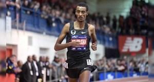 Ethiopian Yomif Kejelcha broke the world indoor mile record in Boston.