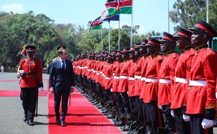 Emmanuel Macron in Kenya
