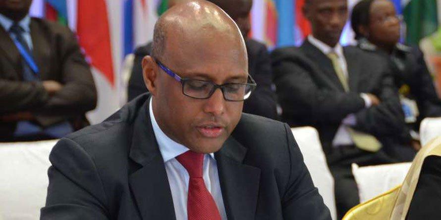 Adan Mohamed, the Cabinet Secretary for East African Community
