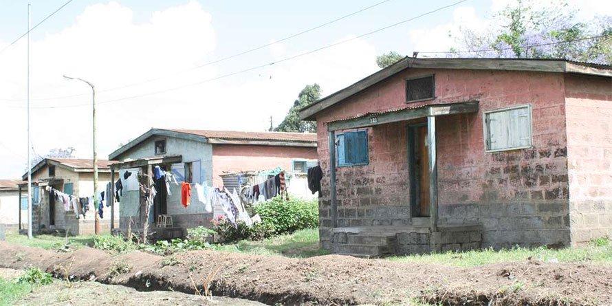 Dilapidated Nairobi County houses in Shauri Moyo. FILE PHOTO   NMG