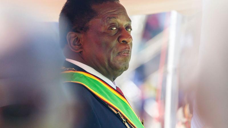 Turmoil: President Emmerson Mnangagwa was a key figure in the Gukurahundi massacres of the 1980s, in which thousands of Zimbabweans, mostly Ndebele, were killed. (Jekesai Njikizana/AFP)
