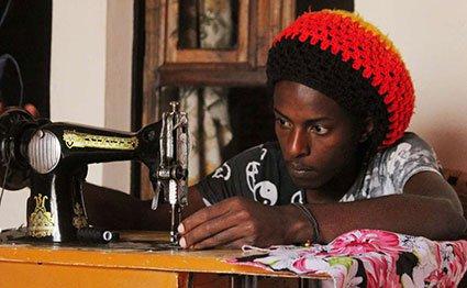 Rwandan fashion designer Cedric Mizero