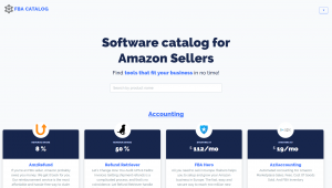 FBA Software Catalog For Amazon Sellers