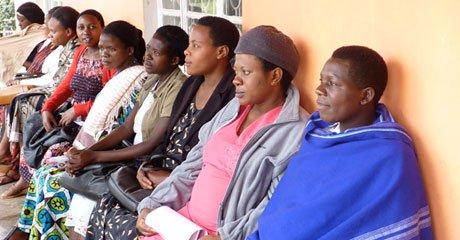 Women wait to receive antenatal services. Fertility rates