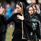 New Zealand Prime Minister Jacinda Ardern as she leaves Friday prayers (Vincent Thian/AP)