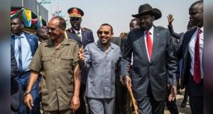 Salva Kiir, Isaias Afwerki and Abiy Ahmed in South Sudan.