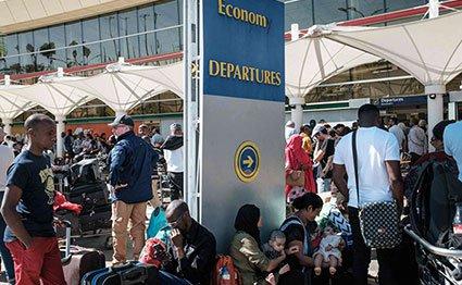 Stranded passengers JKIA
