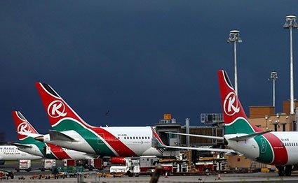 Kenya Airways plane JKIA