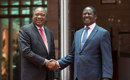 Uhuru Kenyatta and his rival Raila Odinga