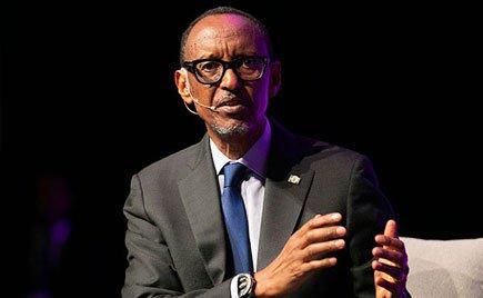 Rwandan President Paul Kagame. The president