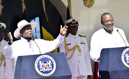 uhuru kenyatta and yoweri museveni