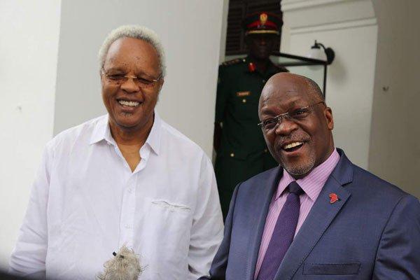 Magufuli meets Lowassa.