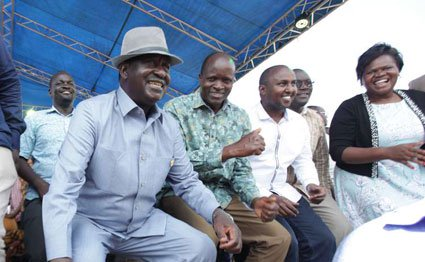 Raila and Obado in Nyatike