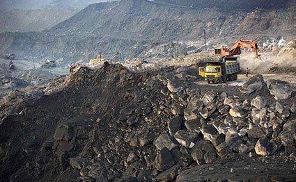 A coal mining site