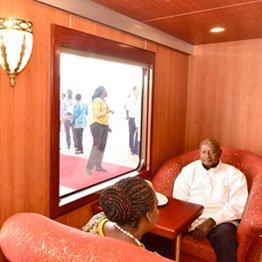 Museveni chose to take a 4-hour train ride over one hour jet flight