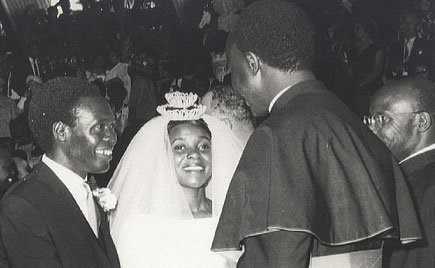Former president Milton Obote and wife M