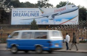 An Ethiopian Airlines billboard in Addis Ababa in January 2010. Photo: AFP/SIMON MAINA
