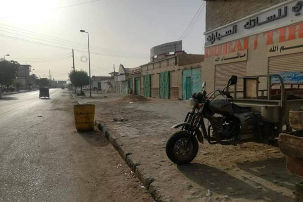 The general strike in Sudan left streets deserted