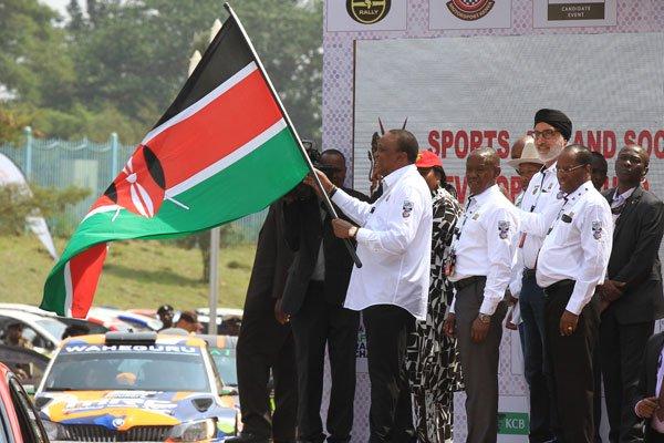 President Uhuru Kenyatta flags off the 2019 KCB