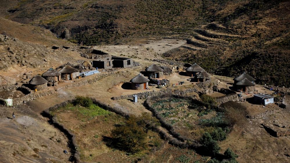 General view of homestead at Ha Motjatji Village outside the capital Maseru