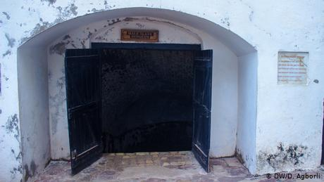 Entrance to the cells through heavy metal doors (DW/D. Agborli)