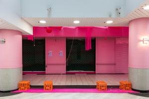 An empty shopping arcade