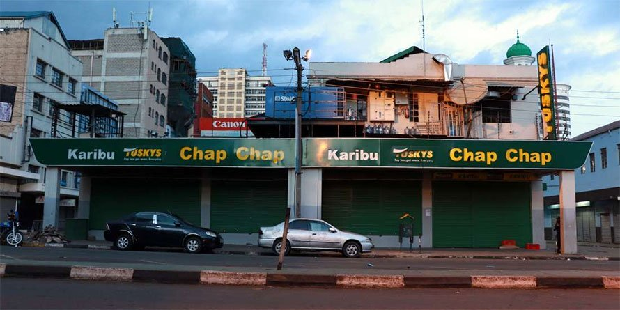 A Tuskys Supermarket branch in Nairobi. FILE PHOTO   NMG